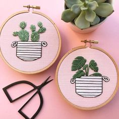 Items similar to Cactus Embroidery Hoop Art / Succulents / Hand Embroidery / Gift for the Home / Wall Art / Home Decor on Etsy Cactus Embroidery, Wooden Embroidery Hoops, Modern Embroidery, Embroidery Patches, Embroidery Hoop Art, Hand Embroidery Designs, Cross Stitch Embroidery, Embroidery Patterns, Etsy