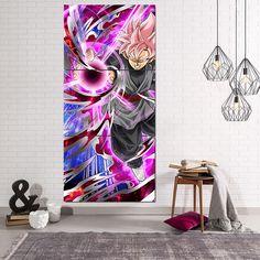 Goku Black Super Saiyan Rose Ki Ball Vibrant 3Pc Canvas Print  #GokuBlack #SuperSaiyan #Rose #KiBall #Vibrant #3Pc #Canvas #Print