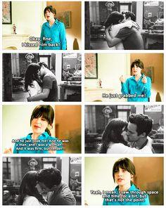 """Nick just… He just… KISSES ME! Stupid Nick Miller! UGH!"" {gif} #newgirl"