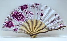 Hand made Silk Japanese Hand Fan Folding Fan Rose Red Kimono Yukata accessory Sensu 65 Hand Held Fan, Hand Fans, Skeleton Parts, Chinese Fans, Fan Decoration, Vintage Fans, Hot Flashes, Hat Pins, Red Roses