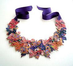 Collar babero declaración collar de mariposa por lovisetto en Etsy