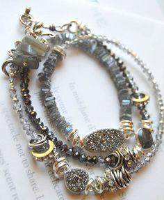 ON SALE bracelet titanium druzy bracelet sterling by soulfuledges