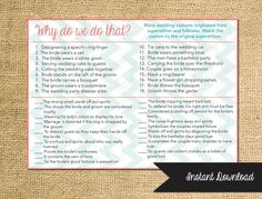 Instant Download Bridal Shower Game Why do we by AestheticJourneys Idea for Kitchen Tea