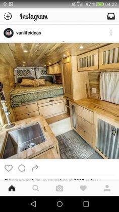 Beautiful RV Camper Does Van Life Remodel Inspire You. You're likely to have to do something similar for van life also. Van life lets you be spontaneous. Van life will consistently motivate you to carry on. Sprinter Van Conversion, Camper Van Conversion Diy, Van Conversion Layout, Campervan Conversions Layout, Van Conversion Bathroom, Van Conversion Interior, Campervan Interior, Rv Interior, Interior Ideas