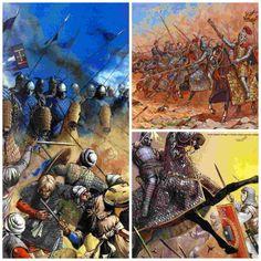Los romanos se toparon por primera vez con los catafractos en la batalla de Magnesia, durante el conflicto entre Roma y Antíoco el Grande. En esa batalla l