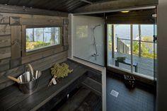 This Comfortable Tiny House Design (with Plans) Exterior Design, Interior And Exterior, Sauna Design, Outdoor Sauna, Finnish Sauna, Cottage Plan, Tiny House Design, Saunas, Coastal Style