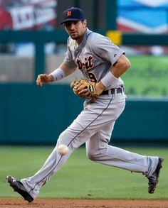 Nick Castellanos fields a ball during the first inning, 07/24/2014