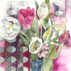 """Wonderfully inspired by flowers"" - Vivienne Cawson"