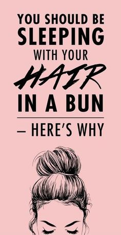 Sleeping in a loose bun prevents your hair from getting messed up during the nig. - Damp hair styles - Your HairStyle Sleep Hairstyles, Curled Hairstyles, Easy Hairstyles, Wedding Hairstyles, School Hairstyles, Vintage Hairstyles, Frizzy Hair Hairstyles, Rainy Day Hairstyles, Heat Free Hairstyles
