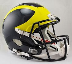 Michigan Wolverines Riddell Deluxe Replica Speed Helmet