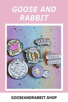 Click through to view each vegan enamel pin. Perfect Mother's Day Gift, Vegan Fashion, Pin Collection, Soy Candles, Some Fun, Best Gifts, Animal Rights, Etsy Seller, Enamel