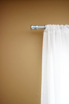 curtain rods from metal conduit - we've got several windows in need of treatment ... perfect!