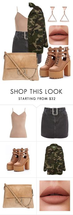 """""""SEXY ARMY"""" by petrescudenisa on Polyvore featuring Hanro, Topshop and WithChic"""
