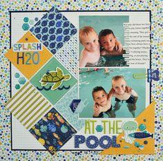 At the Pool - Scrapbook.com