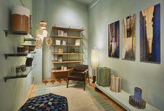 Visit our store | Prinsengracht 645 Amsterdam Us Store, Amsterdam, Fountain, Bookcase, Frozen, Corner, Shelves, Inspiration, Design