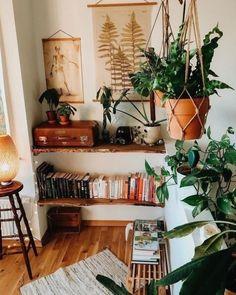 Room With Plants, Style Deco, Aesthetic Room Decor, Aesthetic Plants, Cozy Living Rooms, Home Decor Inspiration, Decor Ideas, Decorating Ideas, Diy Ideas