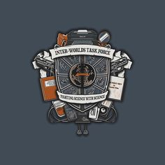 Inter-Worlds Task Force by Arinesart - Shirt sold on September 24th at http://teefury.com - More by the artist at https://www.facebook.com/arinesartestudio