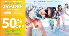 #LimitedTimeOnly #Off #Code #Kids #SummerEssentials  Usa el código promocional y consiente a tus pequeños. www.carters.com  ¡Feliz mitad de semana para todos!