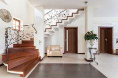 Classy House Corridor and Fancy Wooden Stairs Internal Cottage Doors, Pine Internal Doors, Cheap Internal Doors, Interior Glazed Doors, White Interior Doors, Inside Doors, Beautiful Sofas, Best Interior, Stairways
