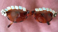 Oval/cat eye tortoise shell sunglasses bedazzled by OWLvsOCTOPI, $20.00