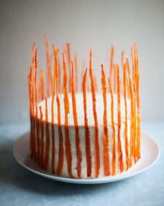 The ultimate carrot cake with candied carrot peels is my absolute favorite cake with a really cool and dramatic decoration! Mini Cakes, Cupcake Cakes, Carrot Cake Decoration, Cake Recipes, Dessert Recipes, Salty Cake, Eat Dessert First, Savoury Cake, Pretty Cakes