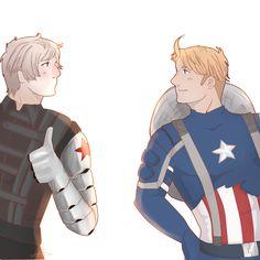 Hetalia Russia&America in Civil War crossover For more: www.gretamacedonio.deviantart.com