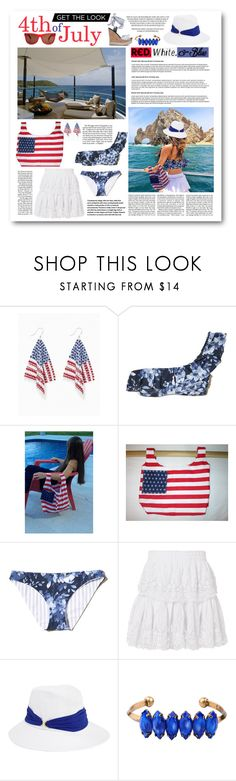 """4th of July Fashions"" by thefabulousfashionblog ❤ liked on Polyvore featuring Ultimate, Kismet, Hollister Co., LoveShackFancy, Eugenia Kim, WithChic, redwhiteandblue, hollister, 4thjuly and 4thofjulyfashions"