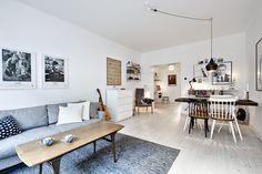 Een goed verborgen keuken in een typisch Scandinavisch appartement - Roomed