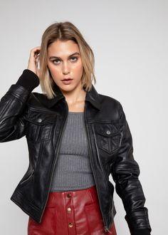 DESTINY Ladies TAN Biker Style Fitted Soft Nappa Leather Jacket Wash/&Wax Vintage