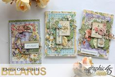 Spring Cards  Secret Garden  by Elena Olinevich  product by Graphic45  photo5a