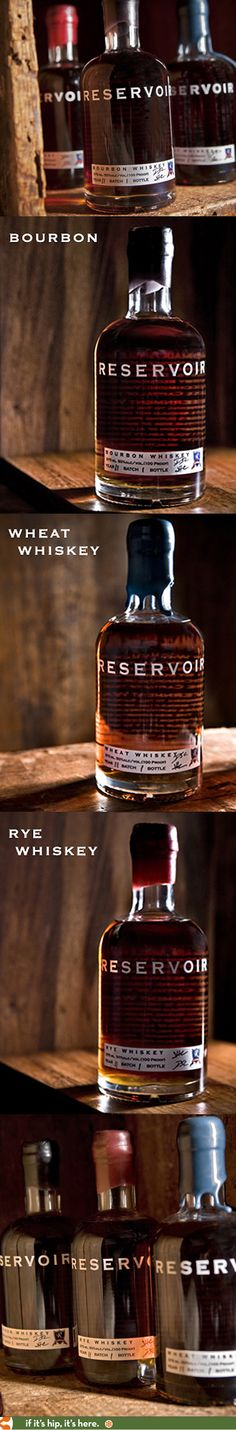 Reservoir Bourbon and Whiskies from Oregon. Like the different coloured seals, and the combo of clean tip on bottle with paper label.