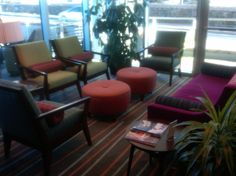 Part of the lobby at the Hotel Indigo Asheville