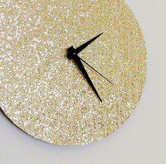 Unique+Wall+Clock+Gold+Glitter+Clock+Great+Gatsby+++by+Shannybeebo,+$50.00