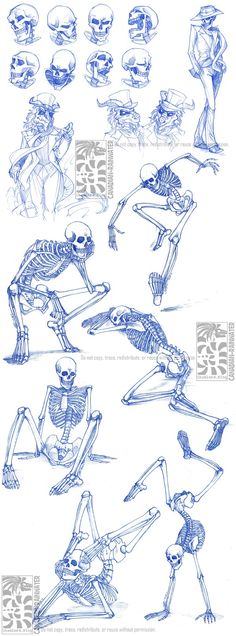(ignore the watermarks and check out the skills).     Skeletal Sketchdump by *Canadian-Rainwater