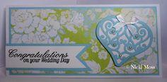 Made by Nicki Moss #spellbinders #cardmaking #weddingcard