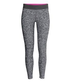 Yoga tights in grey. #HMSPORT