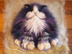 Kim Haskins cat art.  I really love her work!