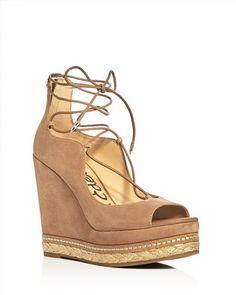140.00$  Buy now - http://vizhs.justgood.pw/vig/item.php?t=3txlr2f22628 - Sam Edelman Harriet Lace Up Wedge Sandals 140.00$