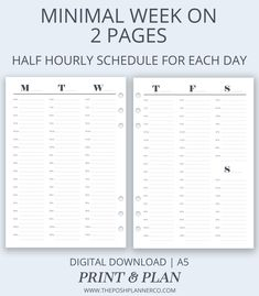 This Weekly Schedule perfect for planning not just your weekly goals and tasks, but your daily goals also. Weekly Schedule Planner, Schedule Printable, Printable Planner Pages, Planner Stickers, Weekly Goals, Daily Goals, Planner Layout, Planner Ideas, Digital Bullet Journal