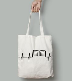Book In Heart tote. A cute little Valentine's Day gift to tell the one you love that you know what's in their heart. <3