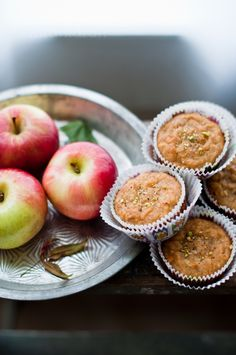 Apple & Cardamom Tea Cakes from @Kiran
