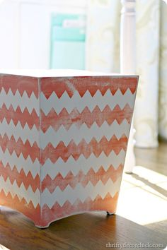 Have you seen the new Frogtape chevron painter's tape? SO fun! TROUBLE FROGTAPE and paint oh my!