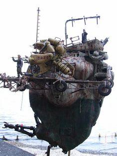 """Fishing boat """"Tessho-maru"""" by dokuroheart http://www.geocities.jp/dokuroheart/tetumaru1.htm"""