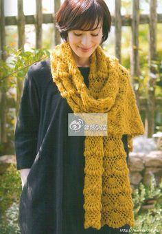 large fan shawl pattern