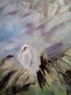 Tomáš Bambušek | Bílá jarunka , 135x110cm, olej na plátně, 2016. Řeporyje #madeinBUBEC