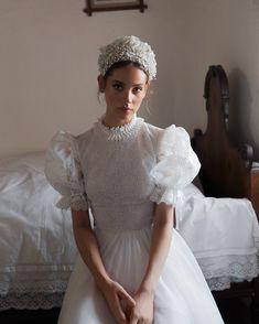 Daalarna FOLK Bridal Collection Inspired by Hungarian Folk-art Elements Wedding Designs, Wedding Styles, Bridal Dresses, Wedding Gowns, Modest Wedding, Dream Wedding, Wedding Day, Boho Wedding, Destination Wedding