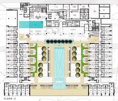 Image 17 of 31 from gallery of Yellow Hotel / PLAN Associated Architects. The Plan, How To Plan, Hotel Design Architecture, Hospital Architecture, Plano Hotel, School Floor Plan, Hotel Floor Plan, Hotel Room Design, Hotel Concept