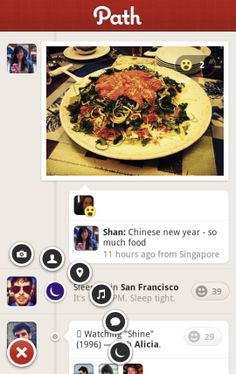 """With dead-simple functionality and an elegant user interface, Path for Android and iPhone aims to bring social networking back to its roots, where """"friends"""" are actually friends, and posts are actual moments worth sharing. User Interface, Social Networks, Paths, Roots, Alternative, Android, In This Moment, App, Facebook"""