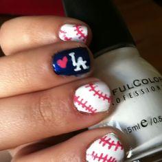 It's time for Dodger baseball! Baseball nails.