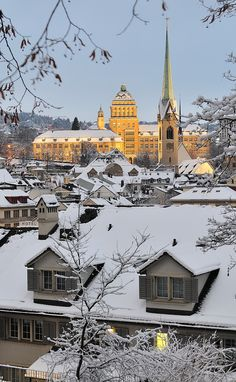 Zürich in winter, Switzerland